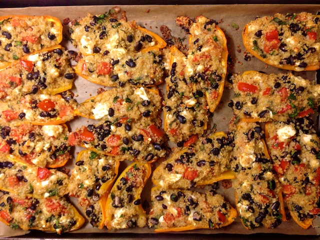 Recipe Peppers stuffed with quinoa and black beans
