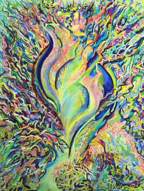 Catkin Bursting (pastel) by Polly Castor