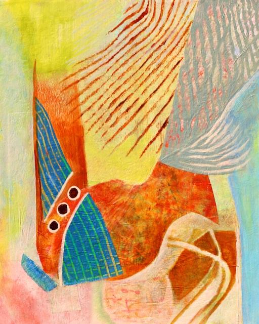 Fingerprint of Destiny (mono print collage) by Polly Castor