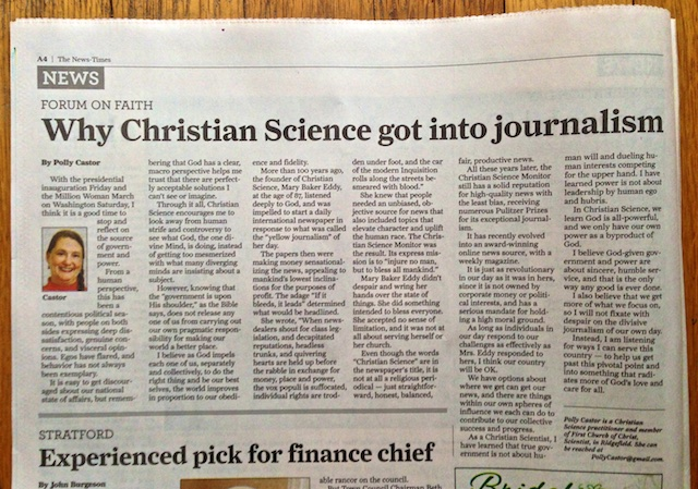 Why Christian Science Got into Journalism