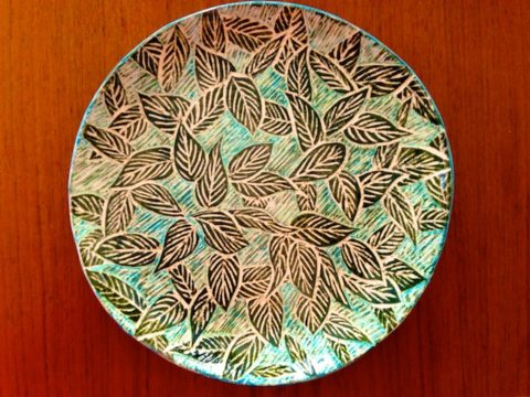 sgraffito ceramics by Polly Castor