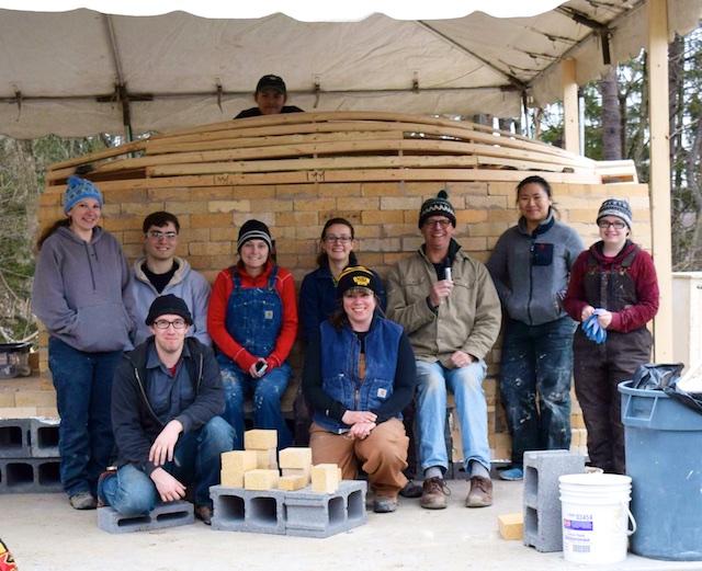 building a wood-fire kiln