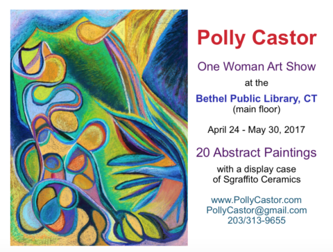 One Woman Art Show at the Bethel Library
