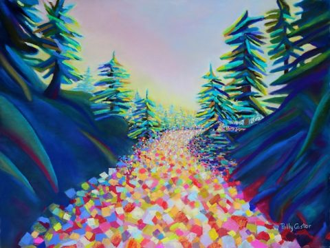 Walking in the Light (New Abstract Landscape by Polly Castor)