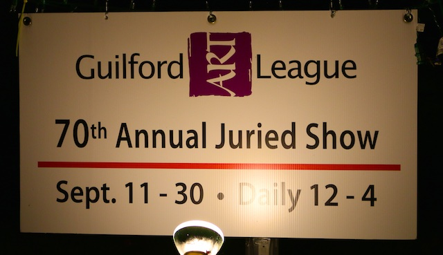 I'm in the Guilford Arts League Juried Show