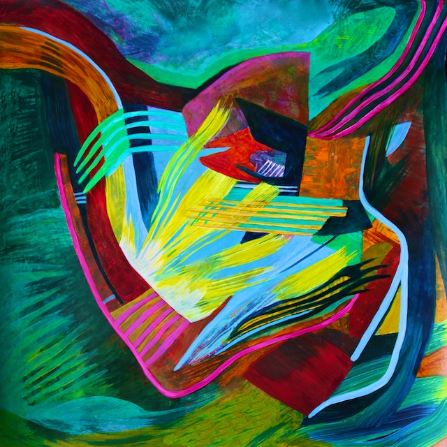 Chambers of the Heart (abstract painting in acrylic) by Polly Castor