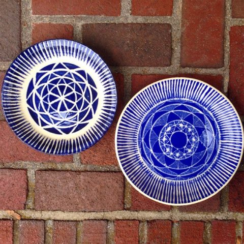 Sgraffito Pottery by Polly Castor (Commissions)