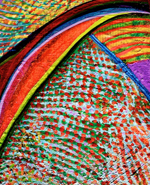 (Detail) Colors of Ridgefield (acrylic) by Polly Castor