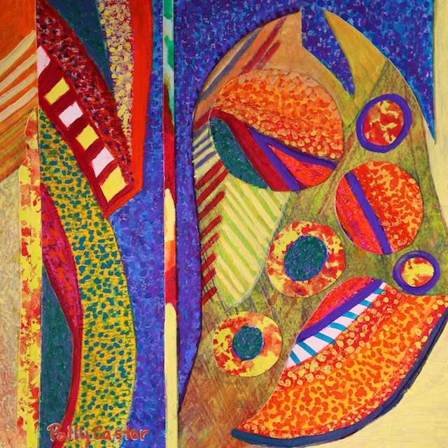 Autumnal Equinox (monoprint collage) by Polly Castor