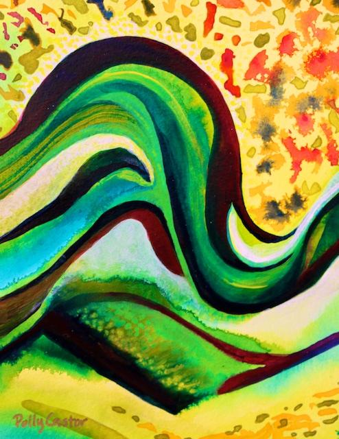 Pennsylvania Hills (acrylic) by Polly Castor