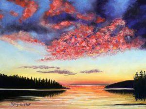 Drama on Deer Isle (New Landscape in Pastel)