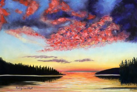 Drama on Deer Isle (Pastel) by Polly Castor