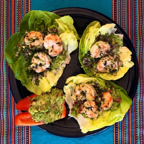 Shrimp Avocado Lettuce Wraps (Recipe)