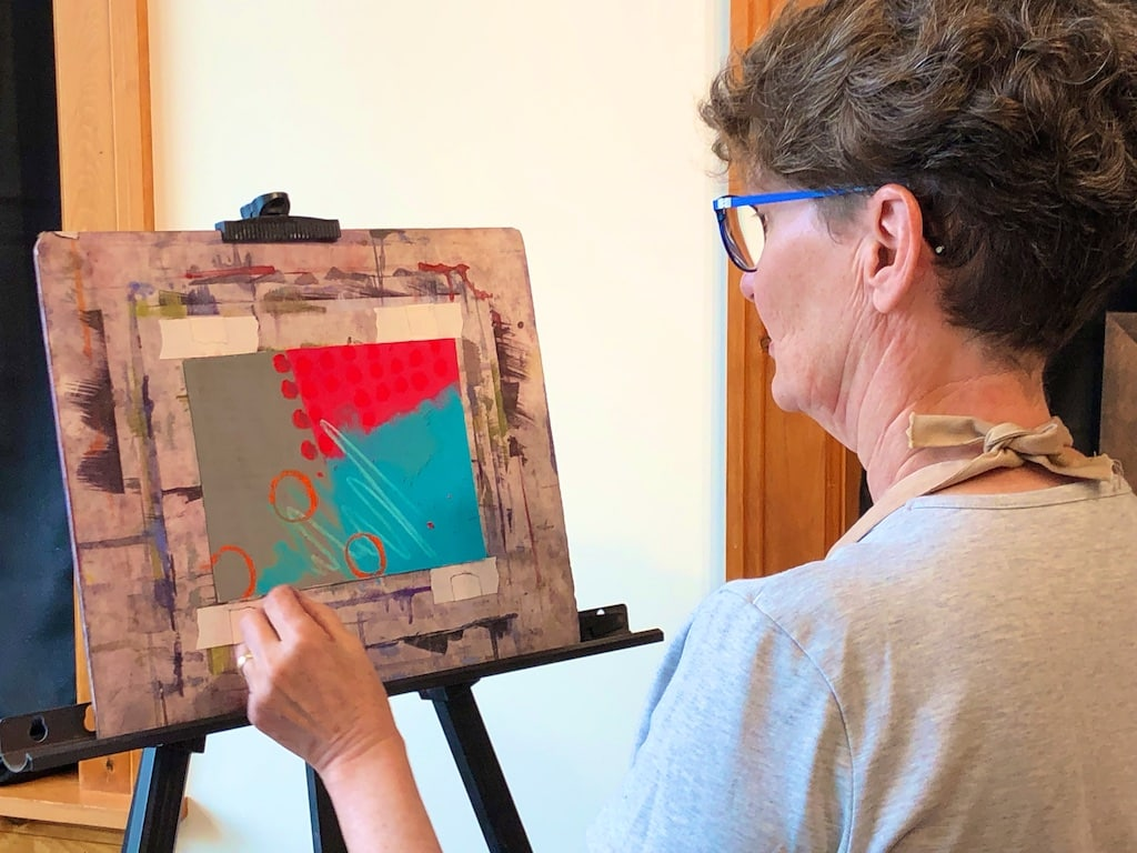 Polly Castor Adventures in Abstraction Pastel workshop