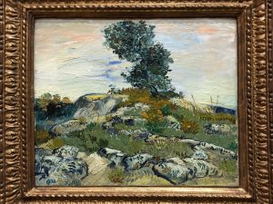 """Close-up Details of Van Gogh's Painting """"The Rocks"""""""