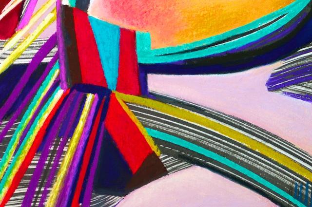(detail of) Carpe Diem (pastel) by Polly Castor