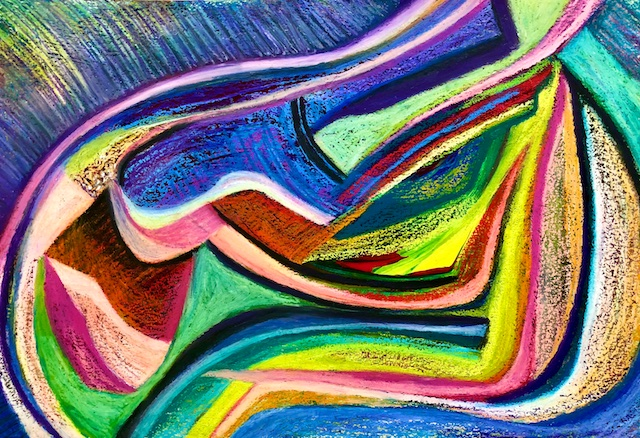 Hibernation Over (oil pastel) by Polly Castor