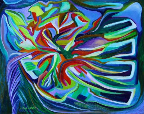 Tropical Reef (abstract Painting by Polly Castor)