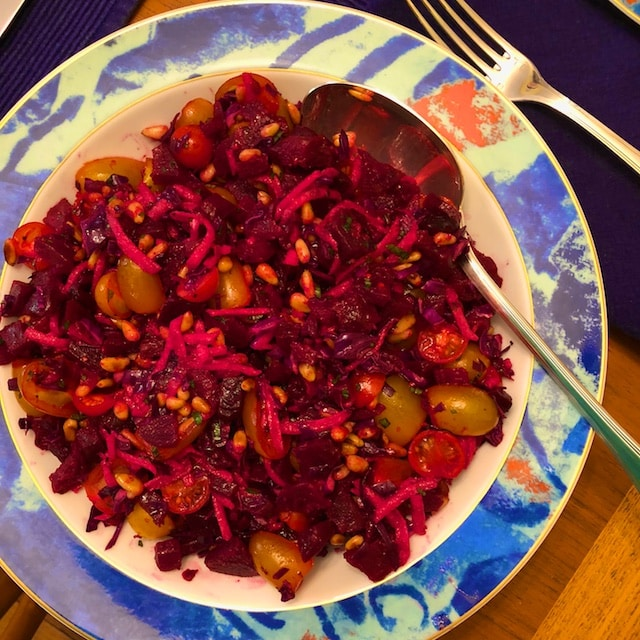 Roasted Beet and Tomato Salad Recipe