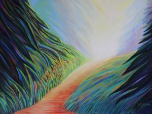 My Childhood in Nature (New Large Abstract Pastel Landscape)