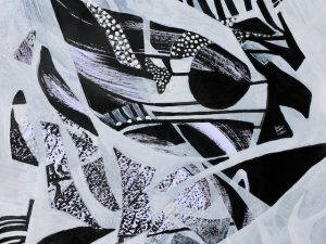 12 New Abstract Black and White Paintings
