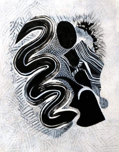 Last Black and White Abstract Paintings