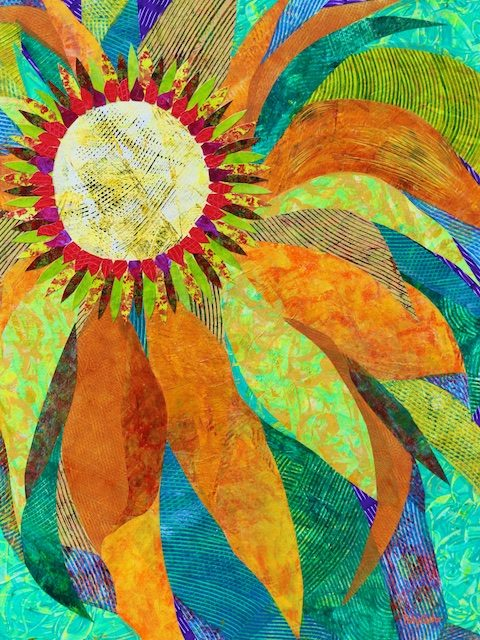 Crown of Petals (monoprint collage) by Polly Castor