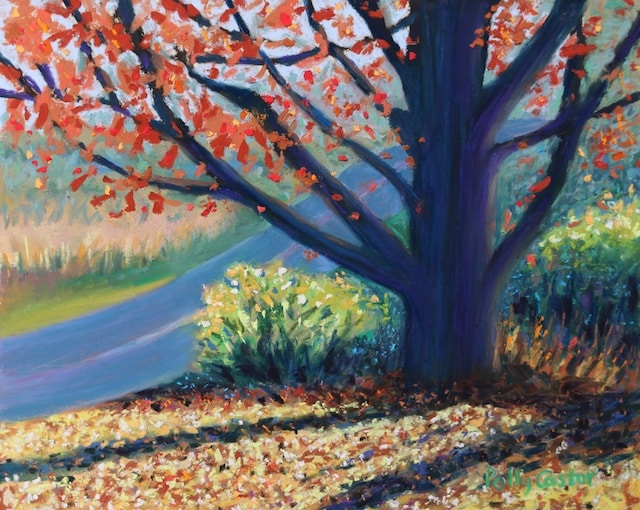Sentinel by the Road (pastel) by Polly Castor