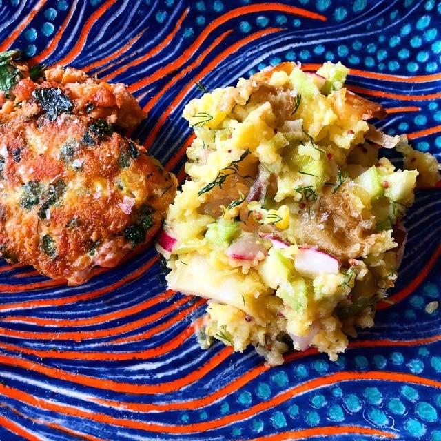 Warm Potato Salad with Leeks and Radishes (No-Mayo Recipe)