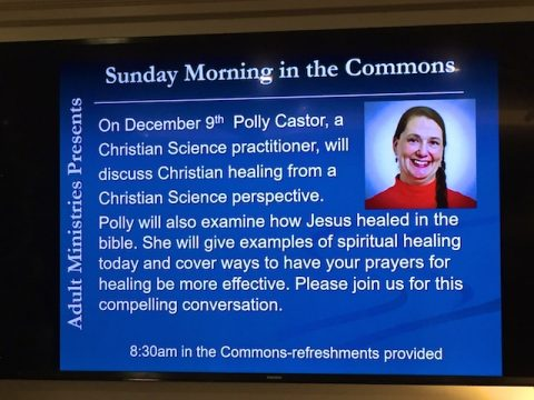 My Adult Ministries Talk at the Congregational Church