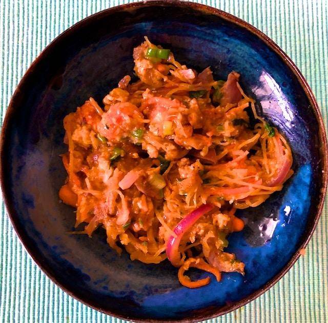 Langostino Pad Thai with Spaghetti Squash (Recipe)