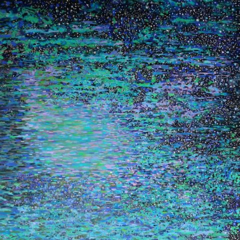 Starlit Lagoon (pastel) by Polly Castor