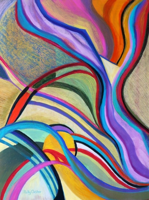 Sinew (abstract pastel painting) by Polly Castor