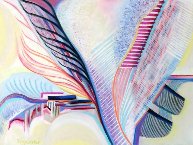 Overcoming White Supremacy (New Abstract Painting in Pastel) by Polly Castor