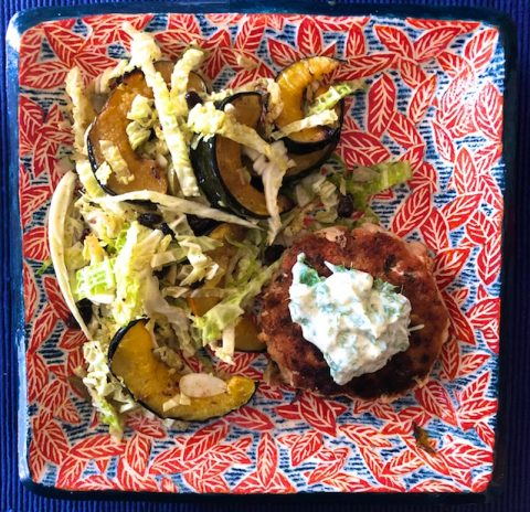 Acorn Squash and Cabbage Salad with Curry Dressing (Recipe)