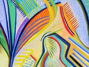Spring is Coming (New Abstract Conceptualist Painting in Pastel)
