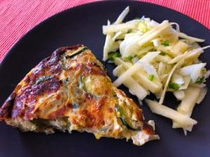Artichoke, Zucchini, and Caramelized Onion Frittata (Recipe)