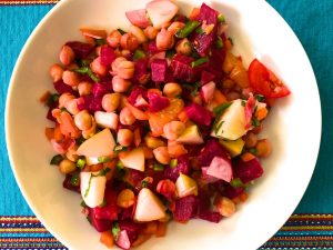 Colorful Vegan Chickpea Salad (Recipe)