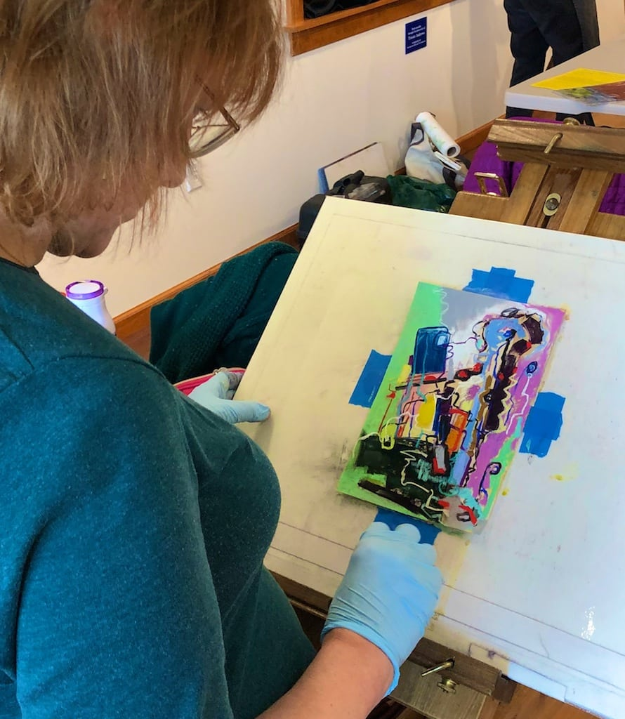 Polly Castor Abstract Art Pastel Workshops