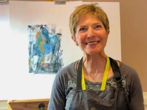 Photos of Dawn Emerson's Workshop (Monotype with Pastel)