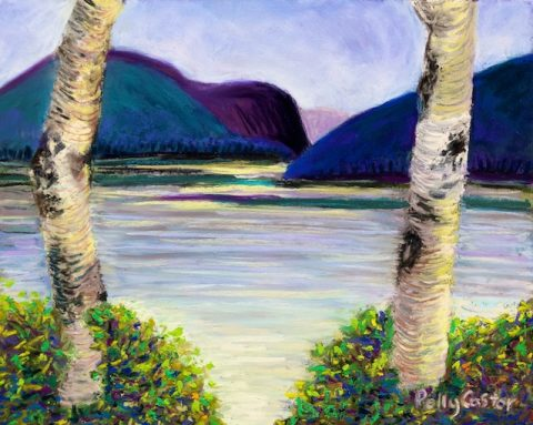 Birch Window, Baxter State Park (pastel) by Polly Castor