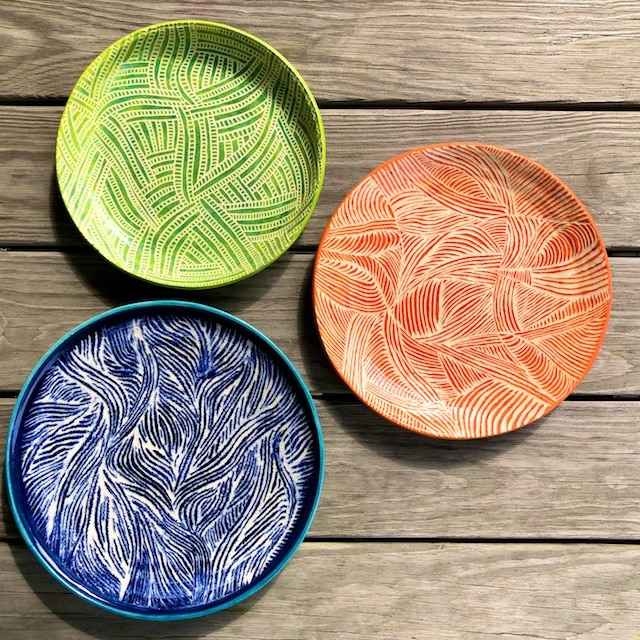sgraffito pottery by Polly Castor