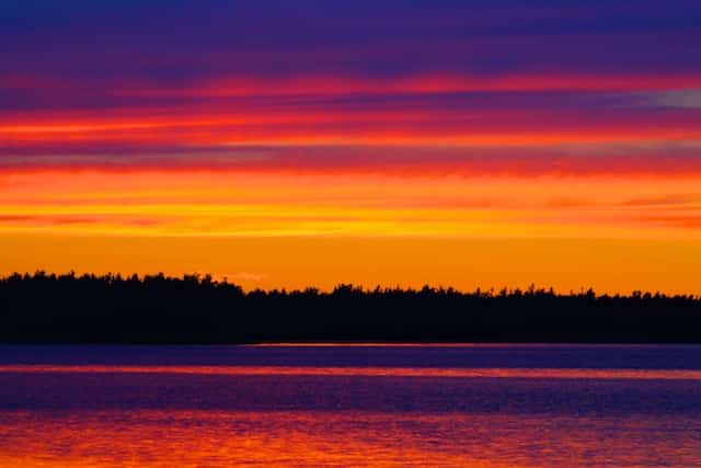sunrises and sunsets of eastern Canada