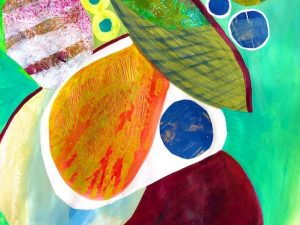 Two New Abstract Monoprint Collages