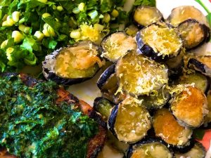 Fried Eggplant with Honey and Lemon Zest (Recipe)