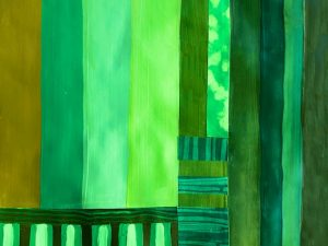 Painting Exercise: Green Stripes, Ten Ways