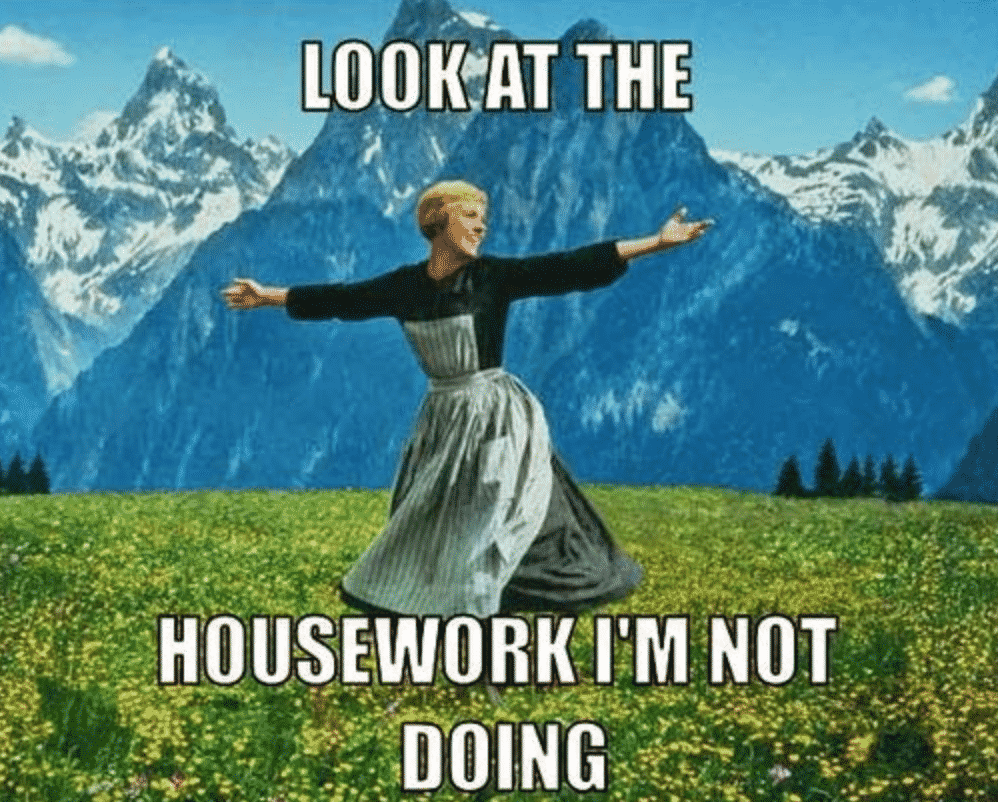 Priorities: art or housework