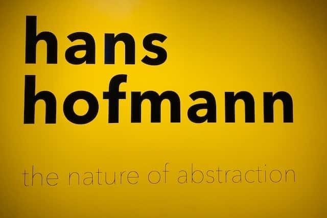 Hans Hoffmann exhibit