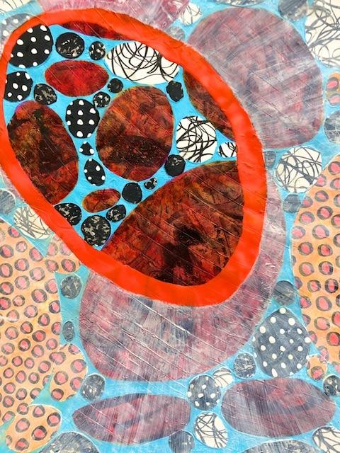 Glimpsing Nuggets of Wisdom (acrylic) by Polly Castor