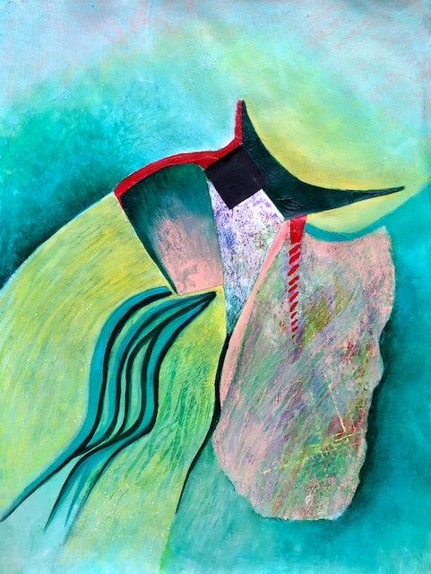 Bodes Well (acrylic) by Polly Castor
